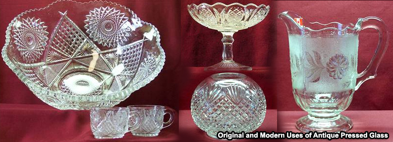 Original and Modern Uses of Antique Pressed Glass
