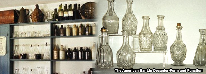 Old Bethpage Bar Room, Assorted Pattern Glass Bitters Size Decanters